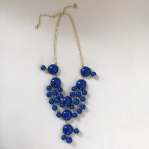 Jewelry - Royal blue bobble statement necklace
